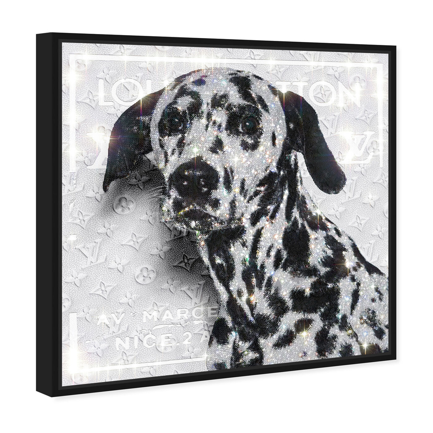 Angled view of Off Dalmatian featuring fashion and glam and lifestyle art.