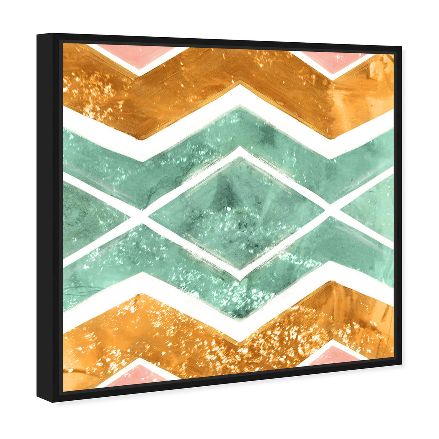 Angled view of Rayada featuring abstract and patterns art.