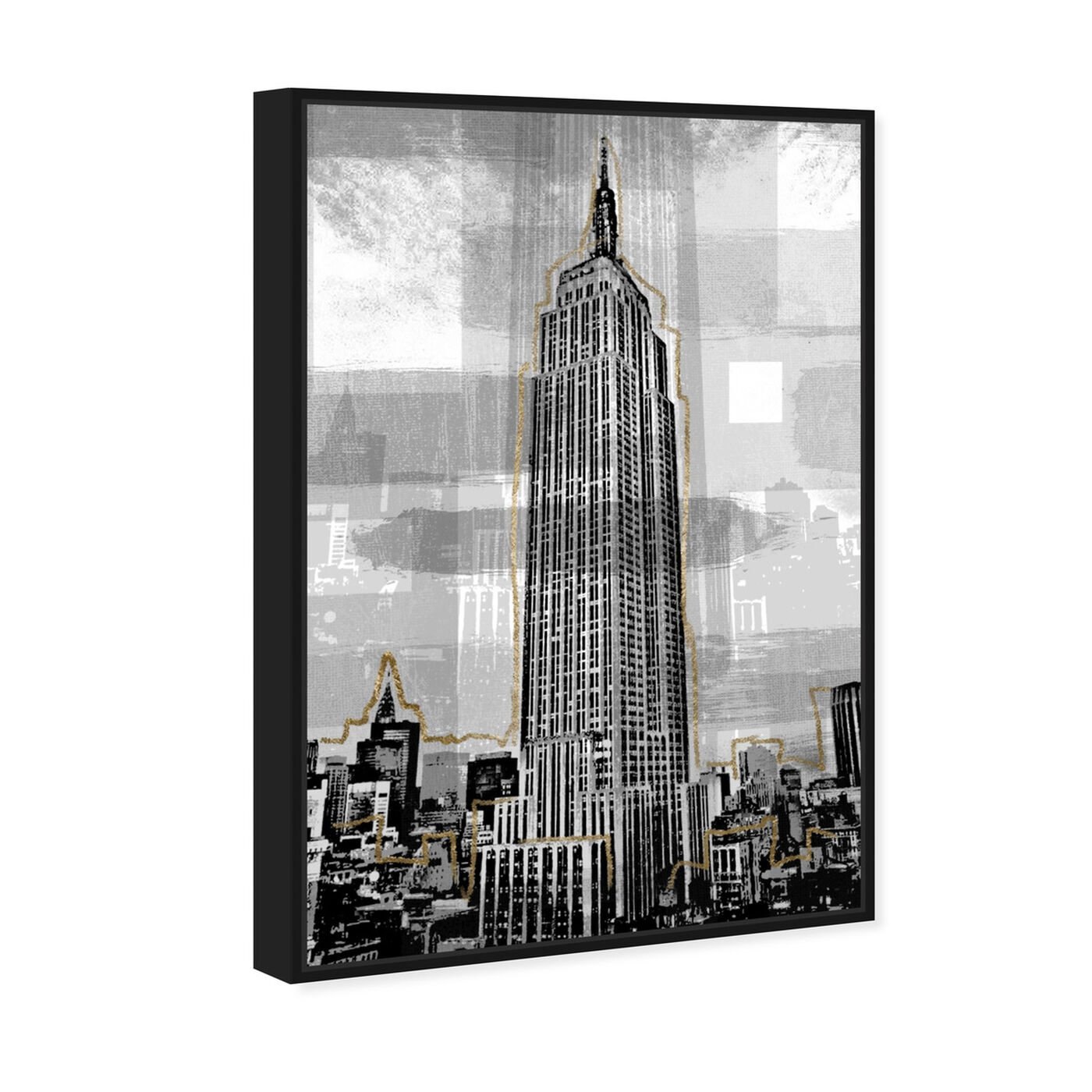 Angled view of Golden Empire State featuring architecture and buildings and united states buildings art.