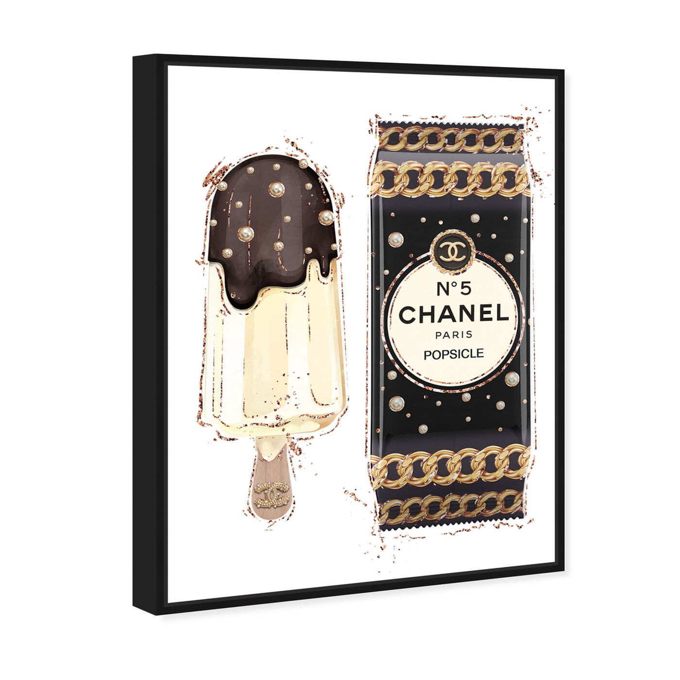 Angled view of Sweet Fashion Chocolate I featuring fashion and glam and jewelry art.