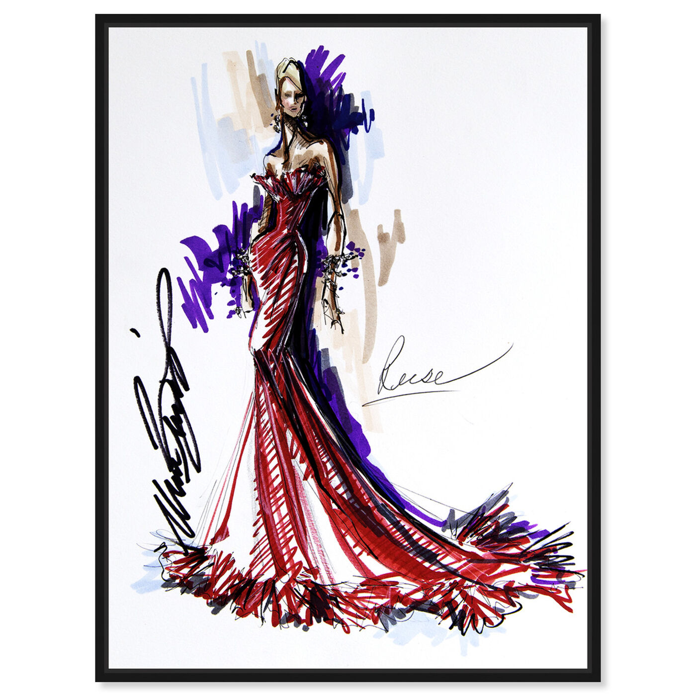 Front view of Mark Zunino - Reese featuring fashion and glam and sketches art.