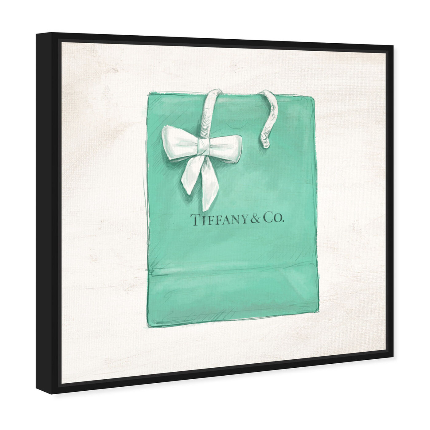 Angled view of Jewelry Shopping Bag I featuring fashion and glam and essentials art.