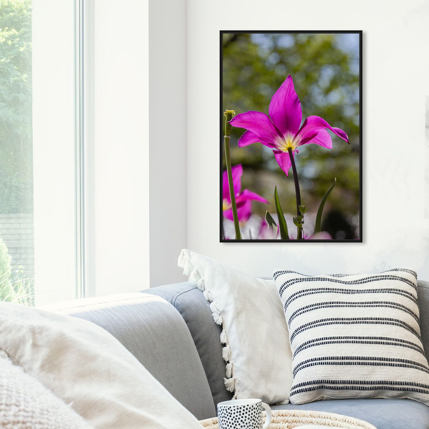 Hanging view of Curro Cardenal - Flower at the Center I featuring floral and botanical and florals art.
