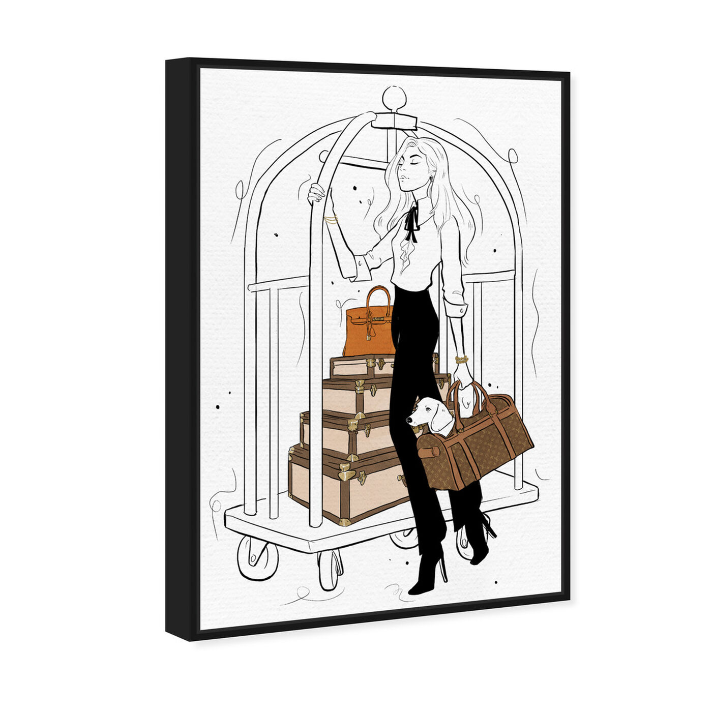 Angled view of Traveling with Ease featuring fashion and glam and travel essentials art.