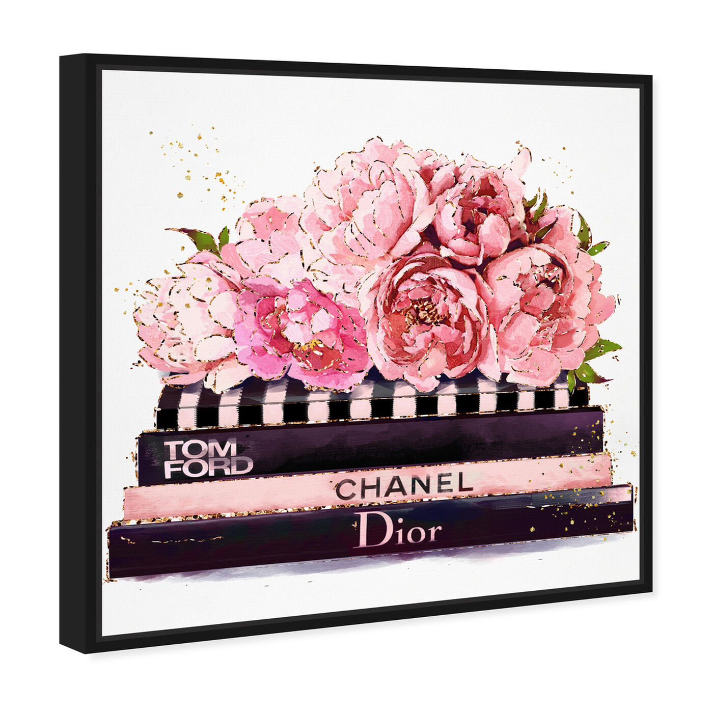 Angled view of Haute Couture Peonies featuring fashion and glam and books art.