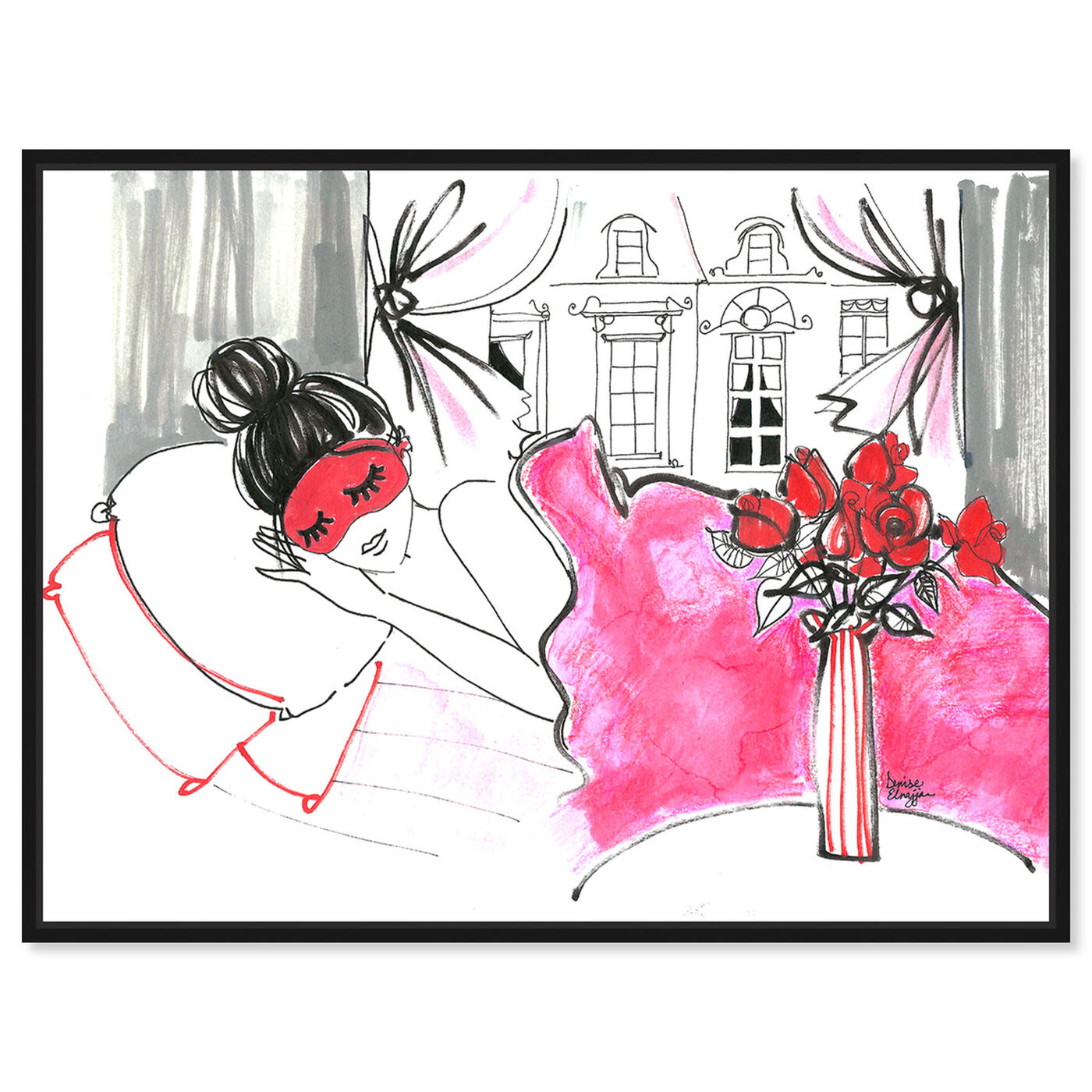 Front view of Denise Elnajjar - Sunday Morning In Paris featuring fashion and glam and lifestyle art.