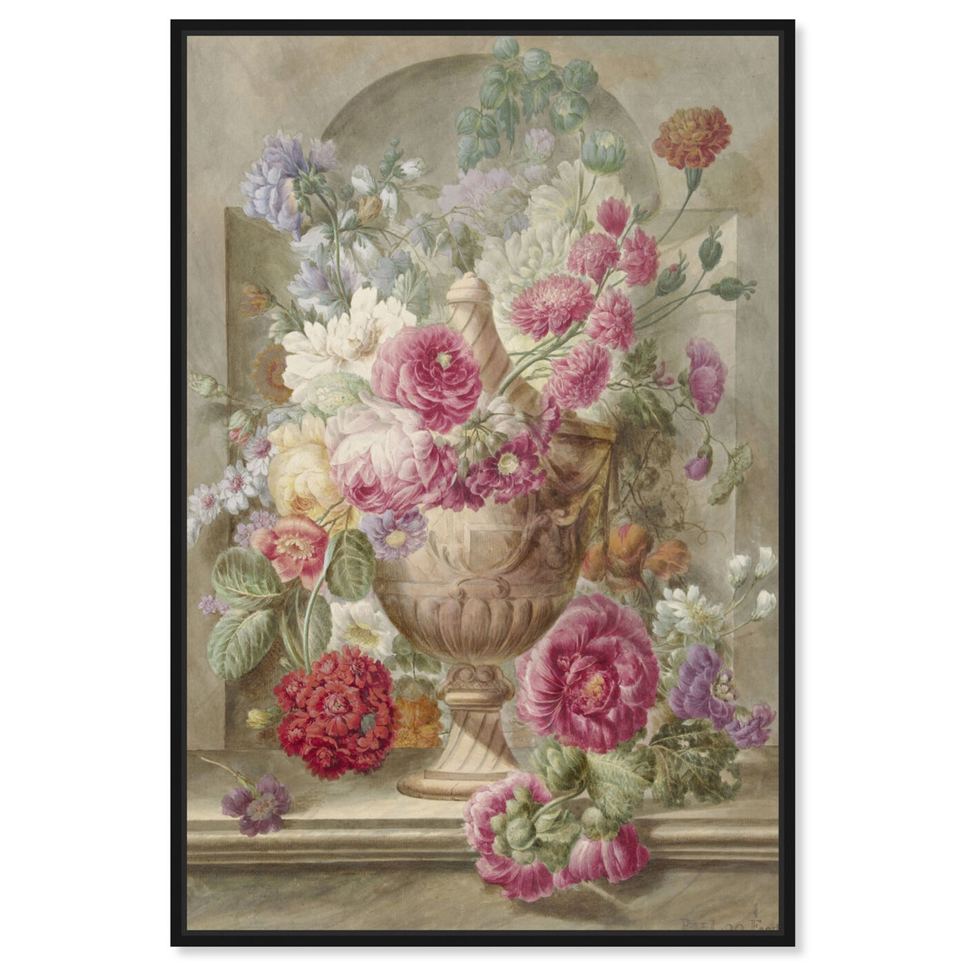 Front view of Flower Arrangement XII - The Art Cabinet featuring floral and botanical and florals art.