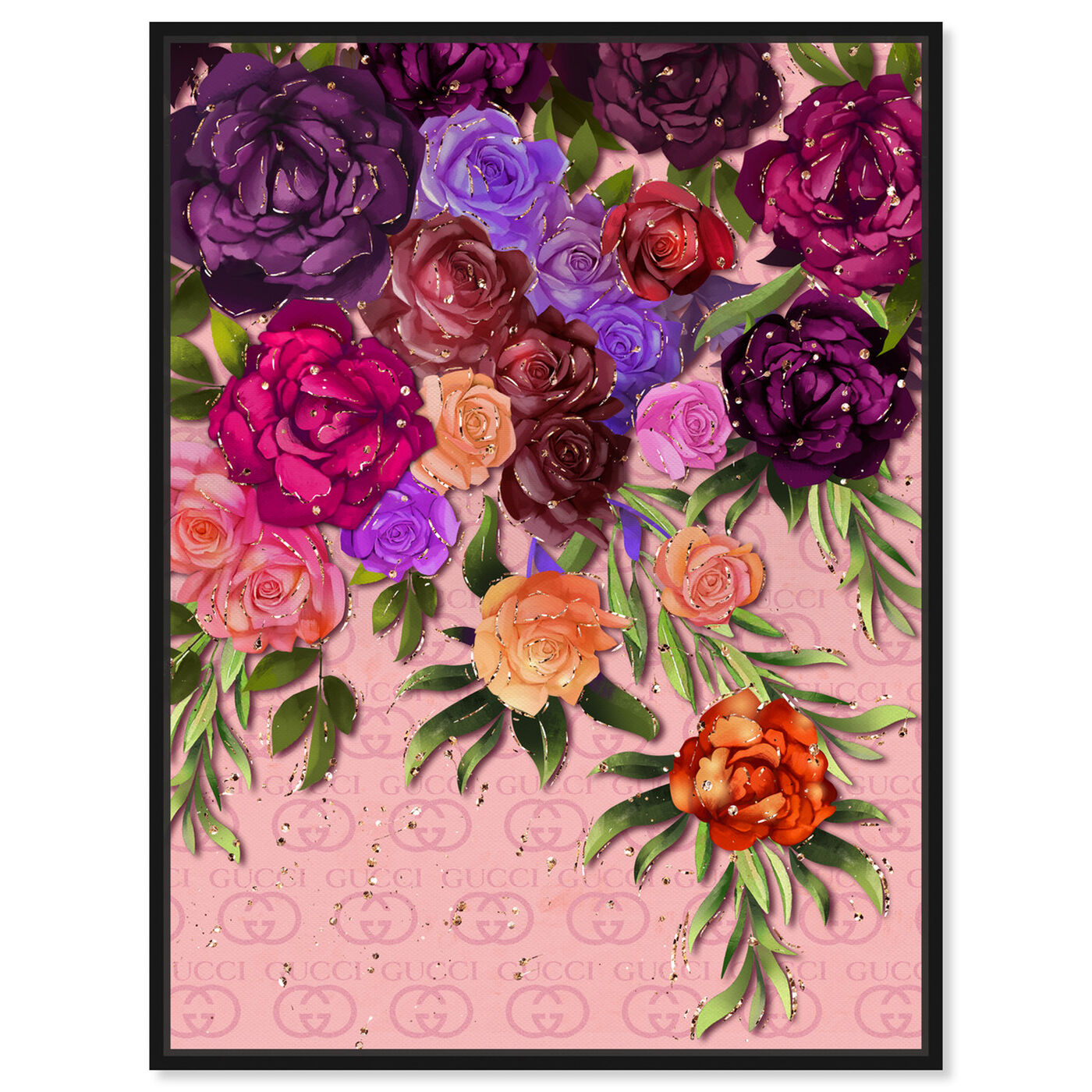 Front view of Garden Floral Fashion featuring floral and botanical and florals art.