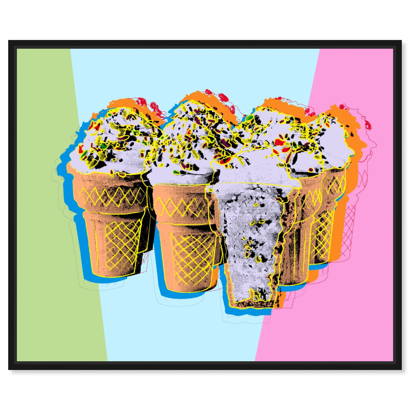 Front view of Pastel Ice Cream featuring food and cuisine and ice cream and milkshakes art.