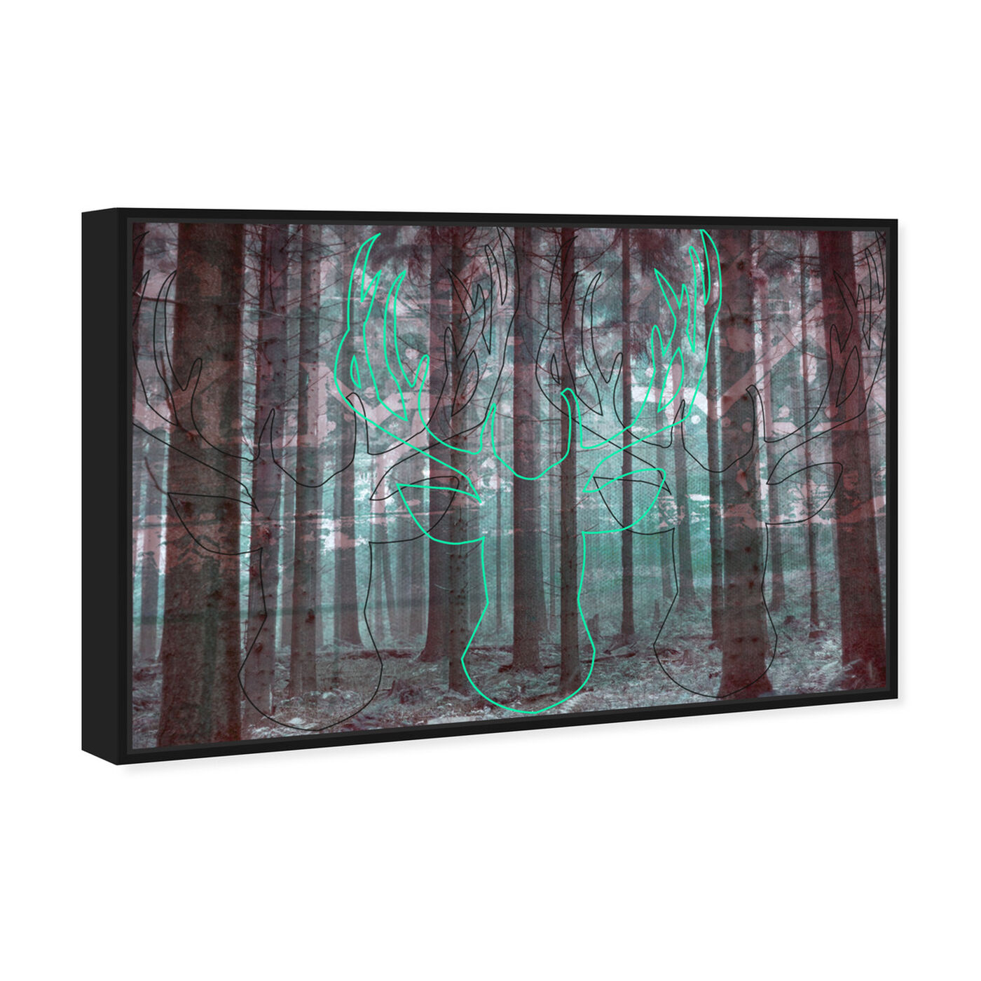Angled view of Oh My Deer! featuring nature and landscape and forest landscapes art.