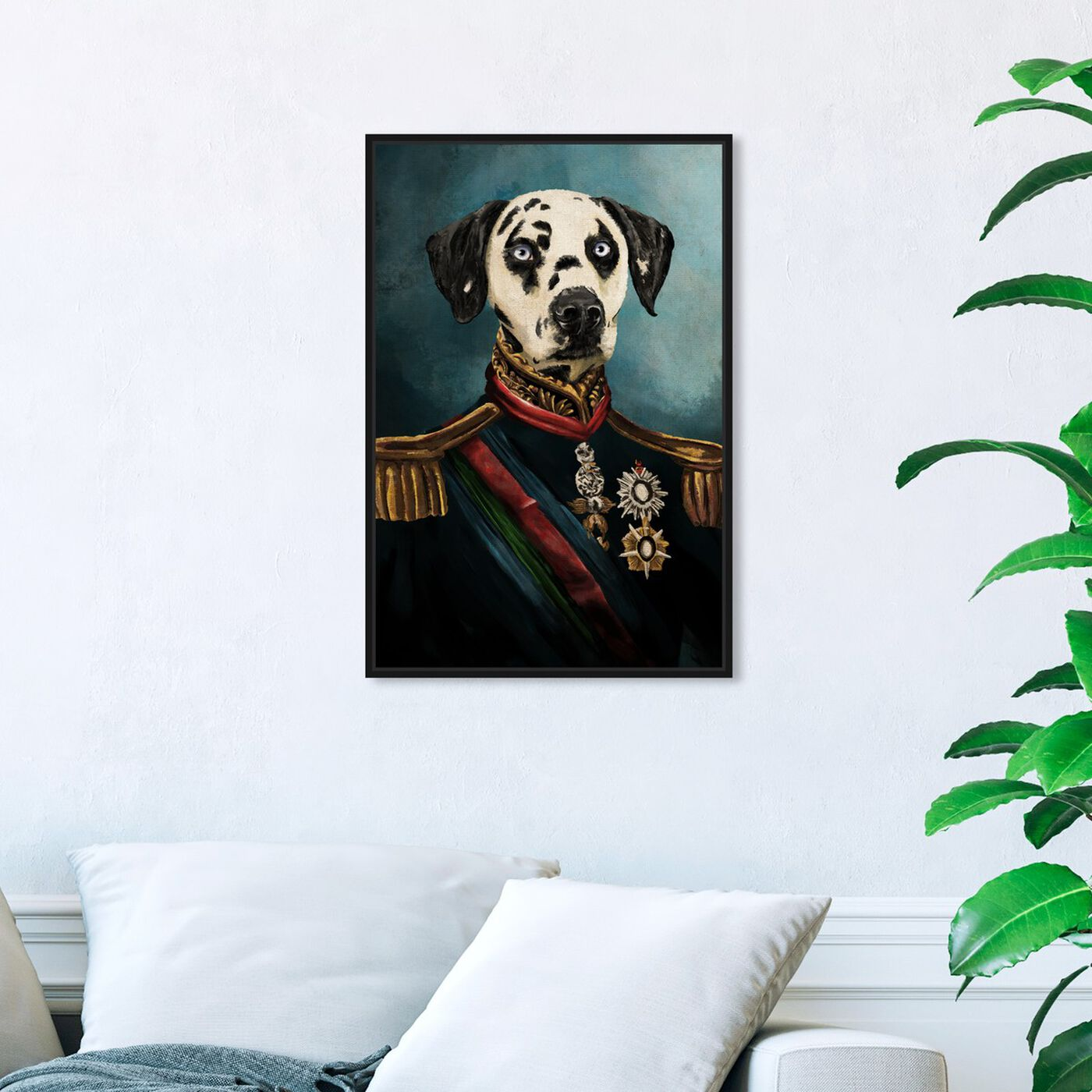 Hanging view of Dalmation Duke featuring animals and dogs and puppies art.