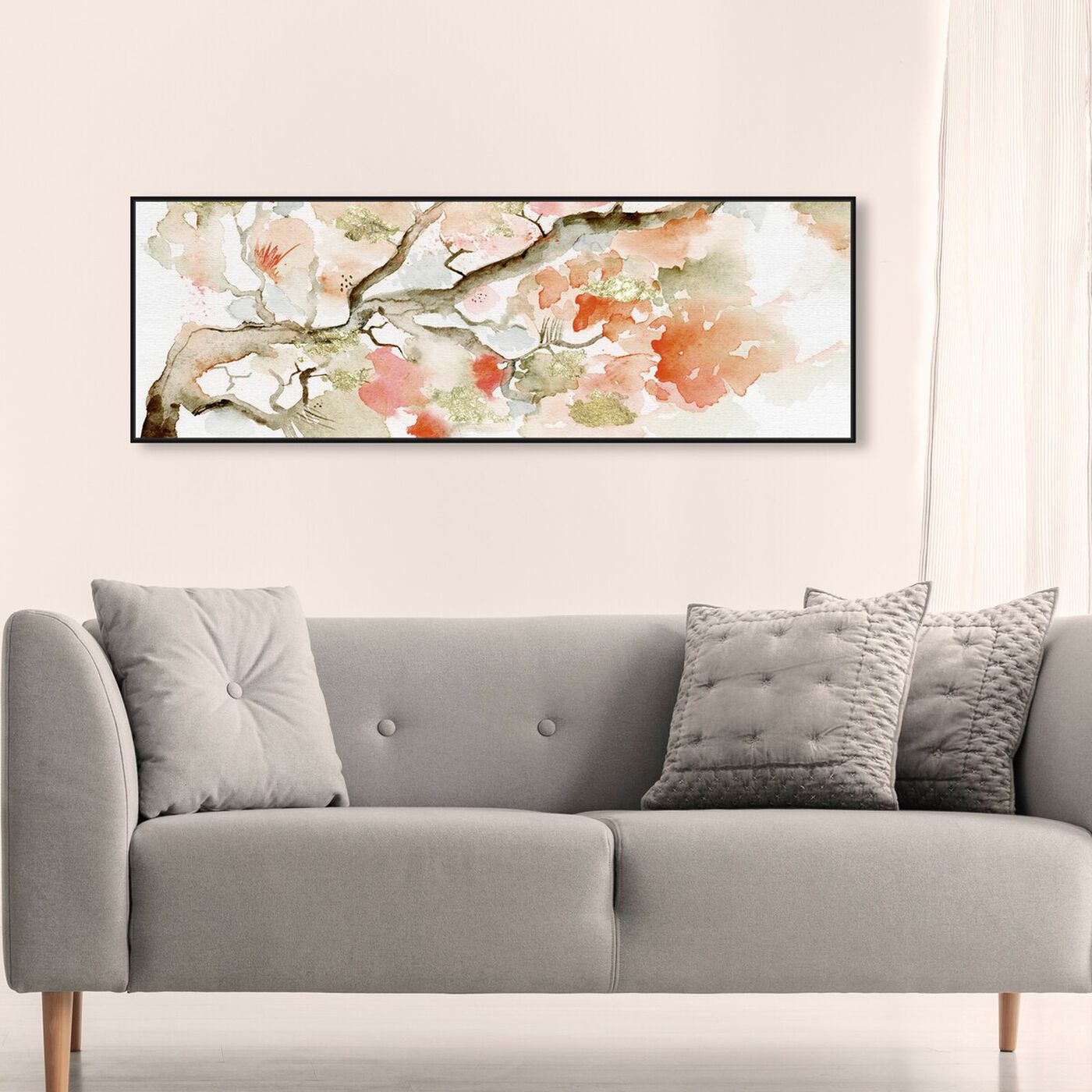 Hanging view of Under The Blossom Tree Sandstone featuring floral and botanical and florals art.