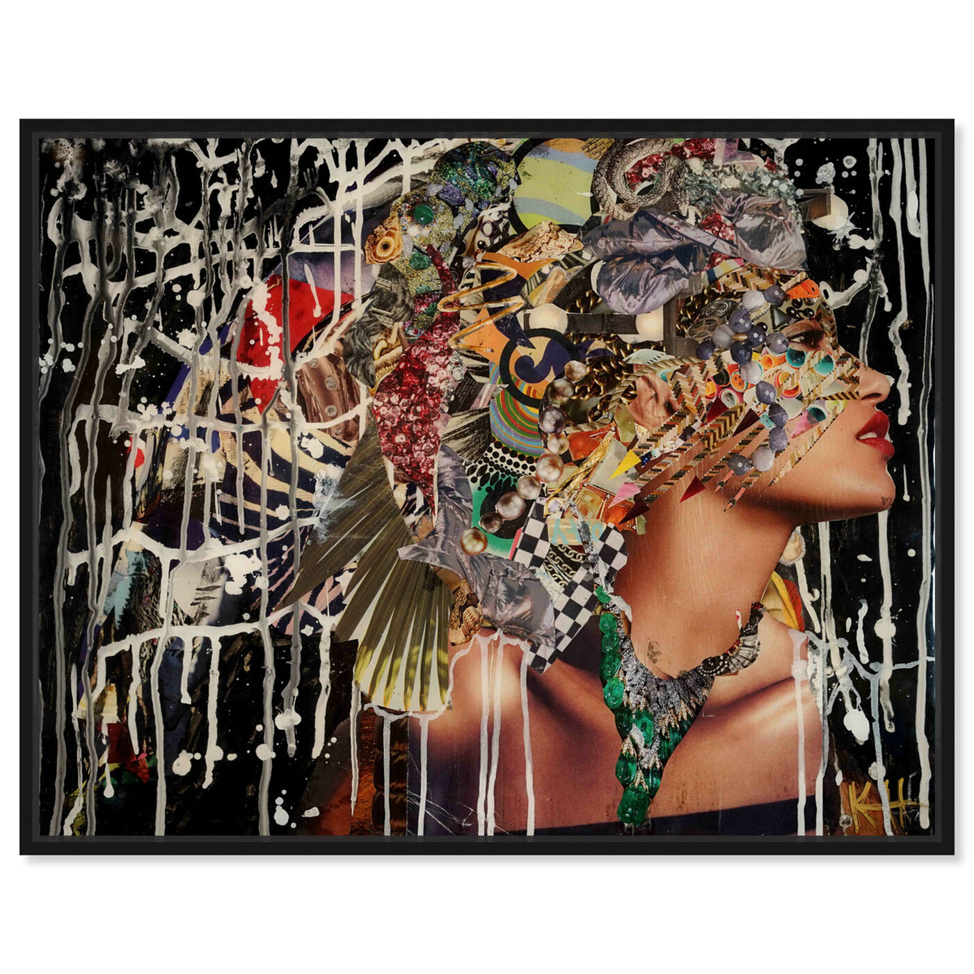 Front view of Katy Hirschfeld - Tribal and Wild featuring fashion and glam and portraits art.