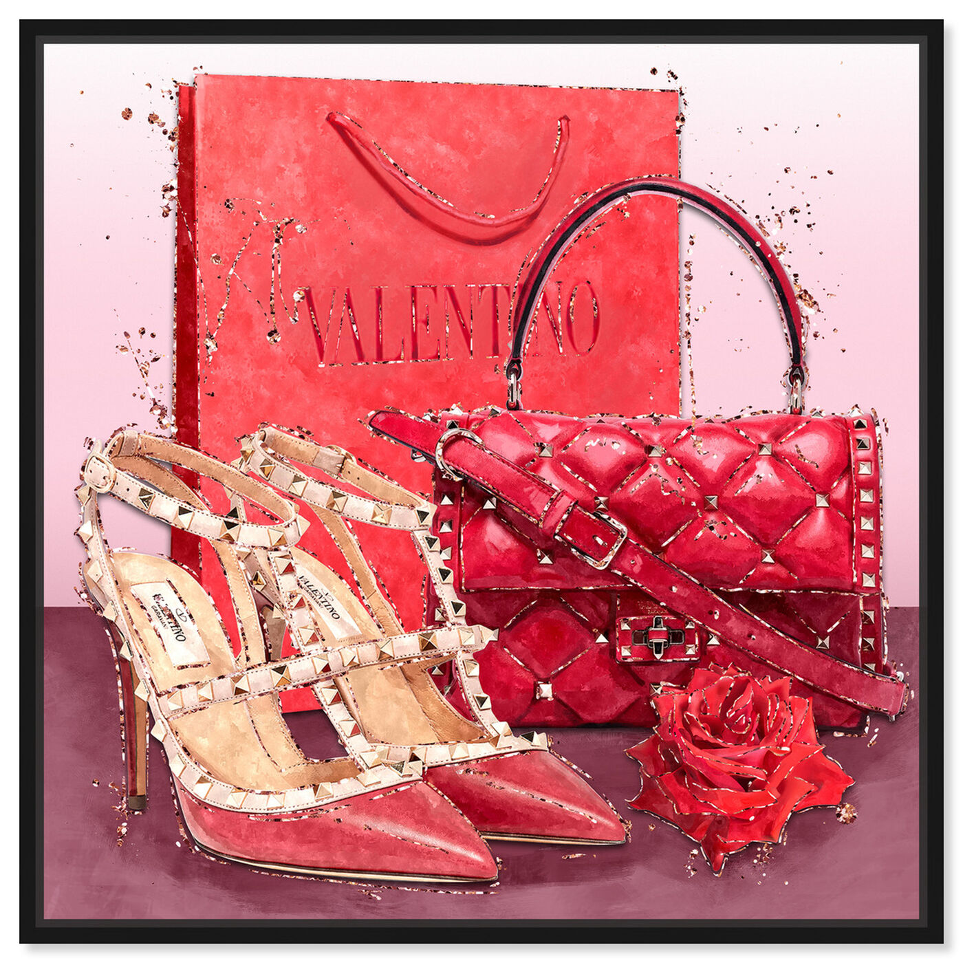 Front view of Passion Red Valentine featuring fashion and glam and shoes art.