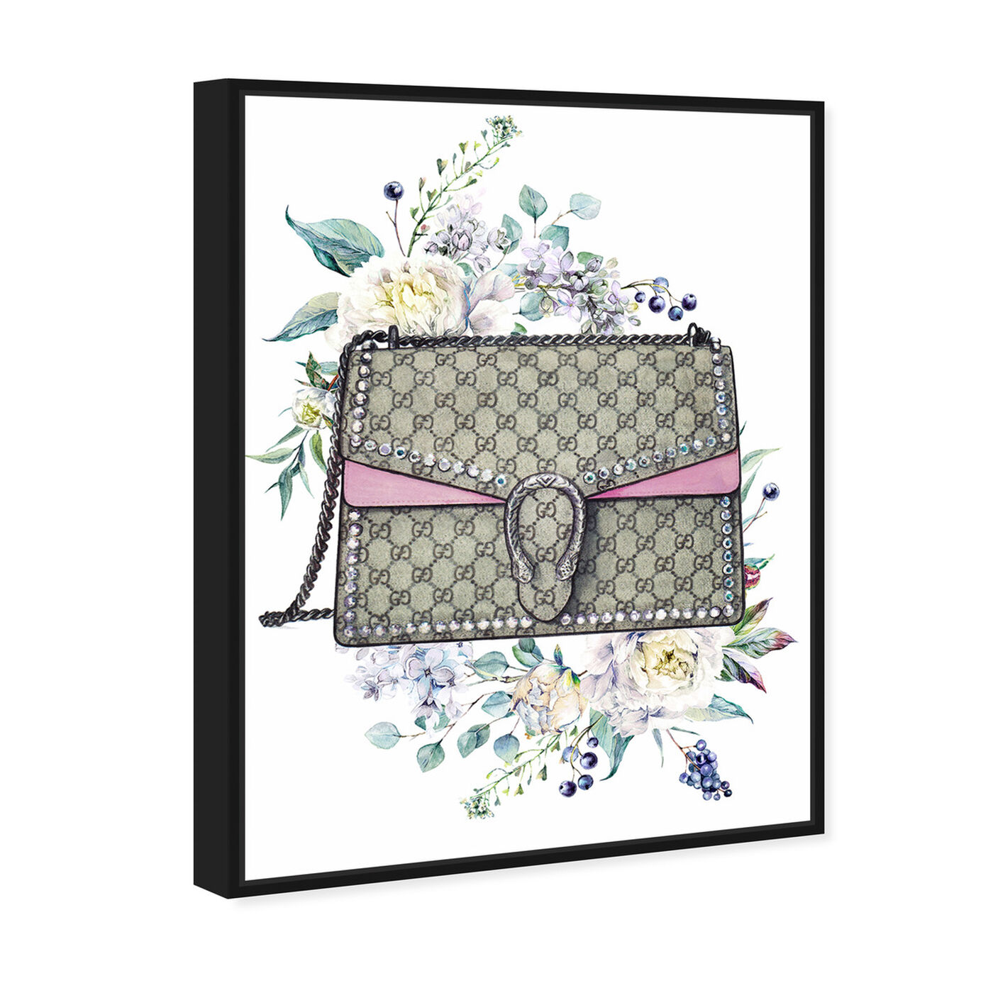 Angled view of Doll Memories - Classic featuring fashion and glam and handbags art.