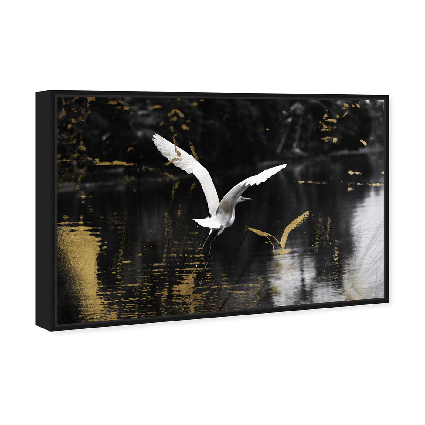 Angled view of Nature in Glam featuring animals and birds art.
