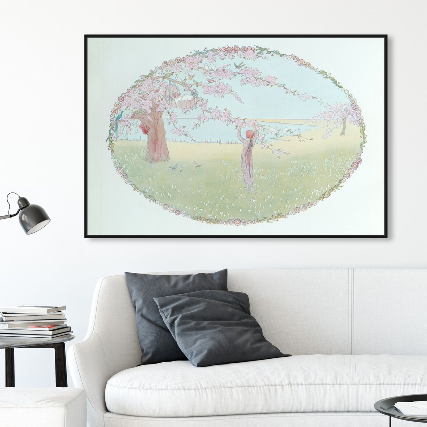 Hanging view of Hush A By Baby featuring floral and botanical and gardens art.