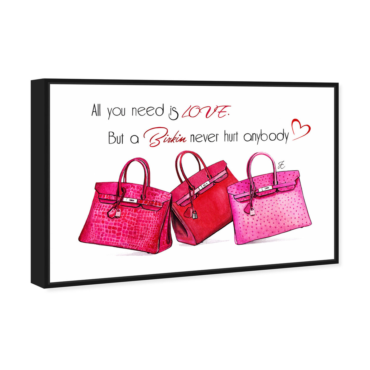 Angled view of Doll Memories - Birkin Pink featuring fashion and glam and handbags art.