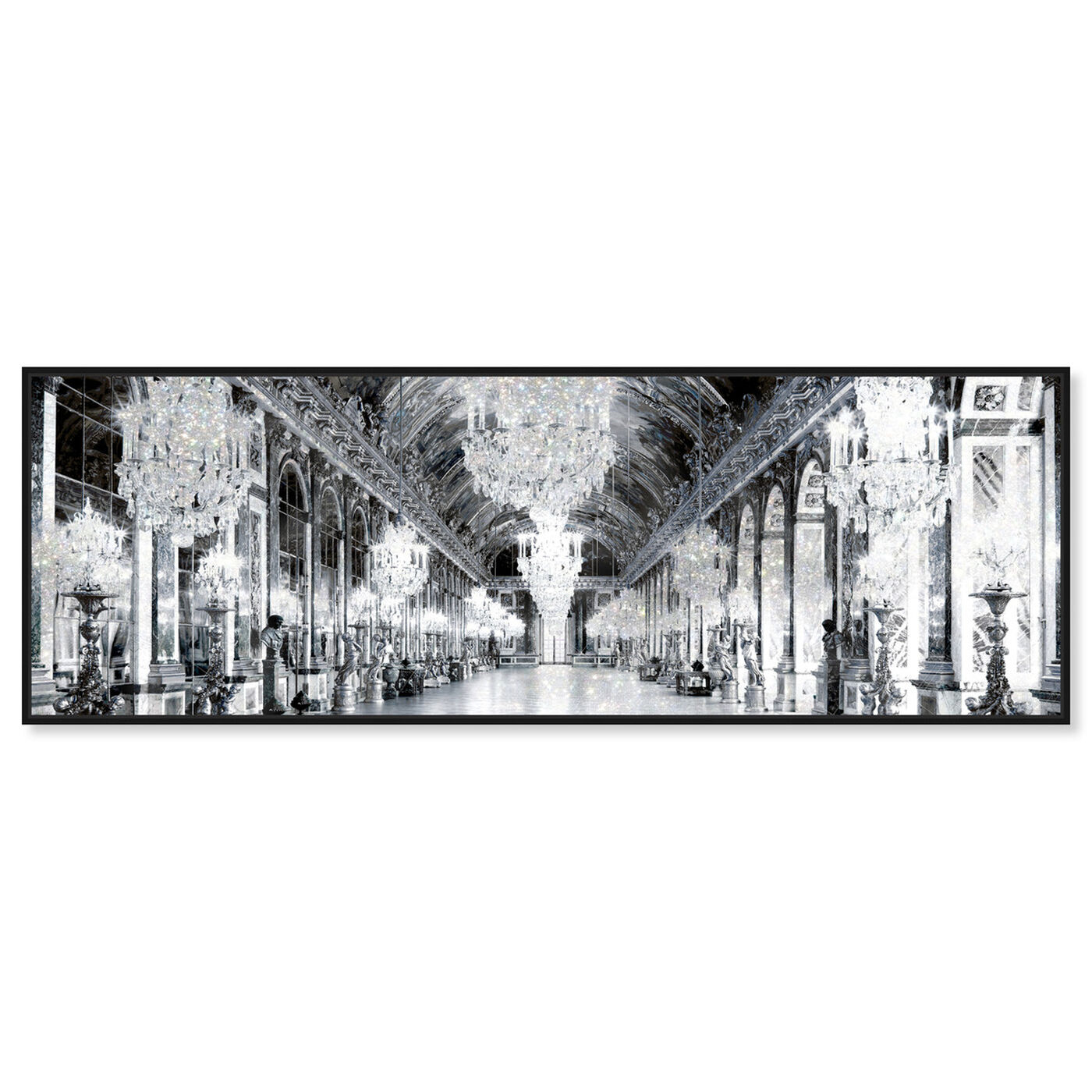 Front view of Barroque Mirrors featuring architecture and buildings and structures art.