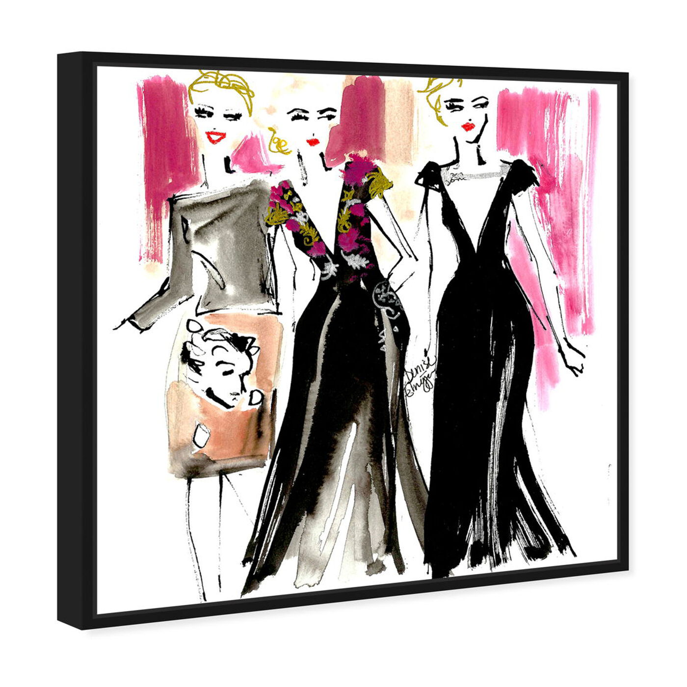 Angled view of Denise Elnajjar - Schiaparelli Girls featuring fashion and glam and dress art.