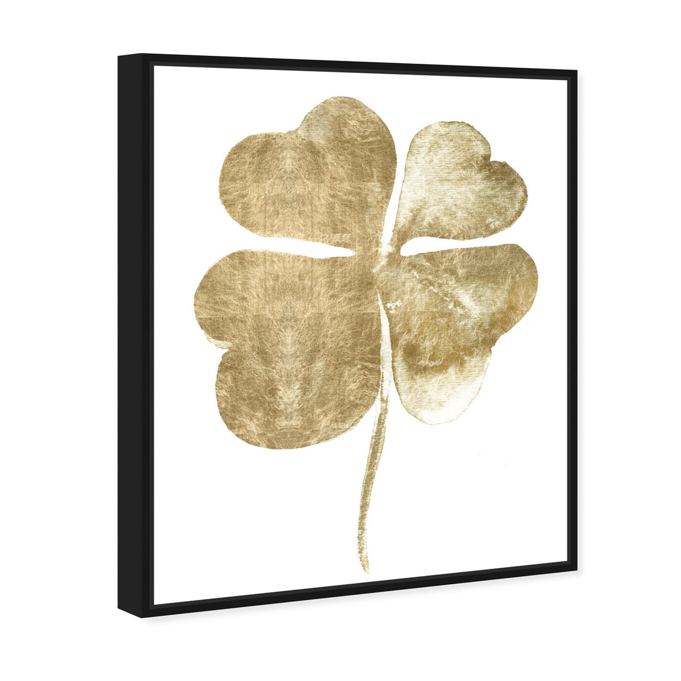 Angled view of Clover featuring floral and botanical and botanicals art.