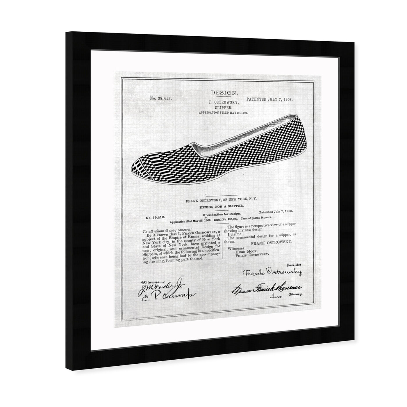 Angled view of Gentleman Loafer Slippers 1908 featuring fashion and glam and shoes art.