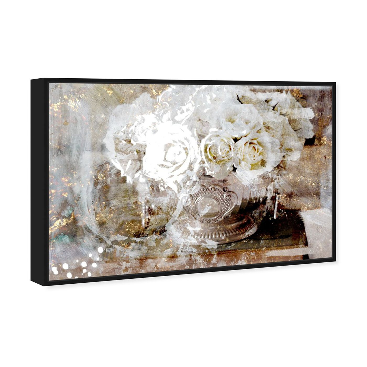 Angled view of Serving Roses featuring floral and botanical and florals art.