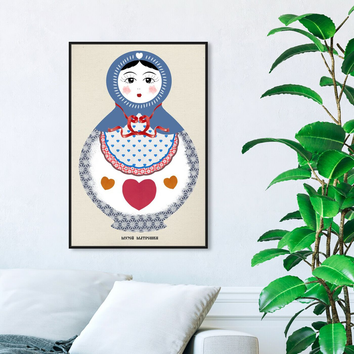 Hanging view of Matryoshka featuring world and countries and asian countries art.
