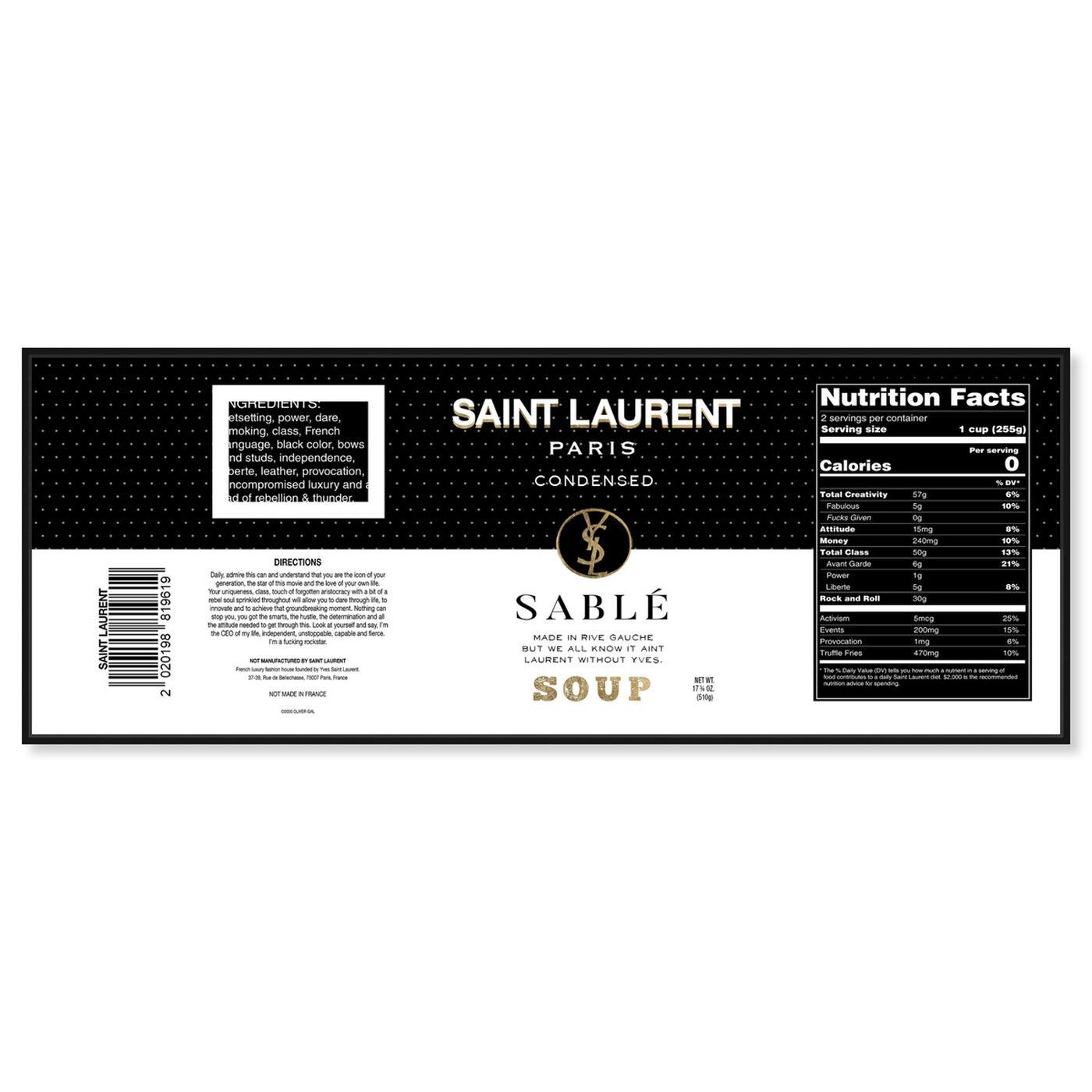 Front view of Rive Sable Soup Label art.