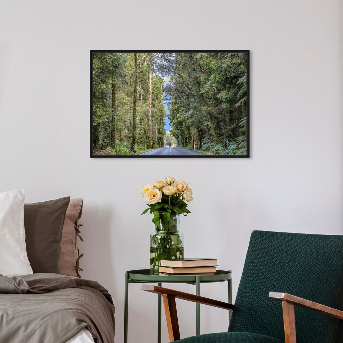 Hanging view of Curro Cardenal - Road to Our Future featuring nature and landscape and forest landscapes art.