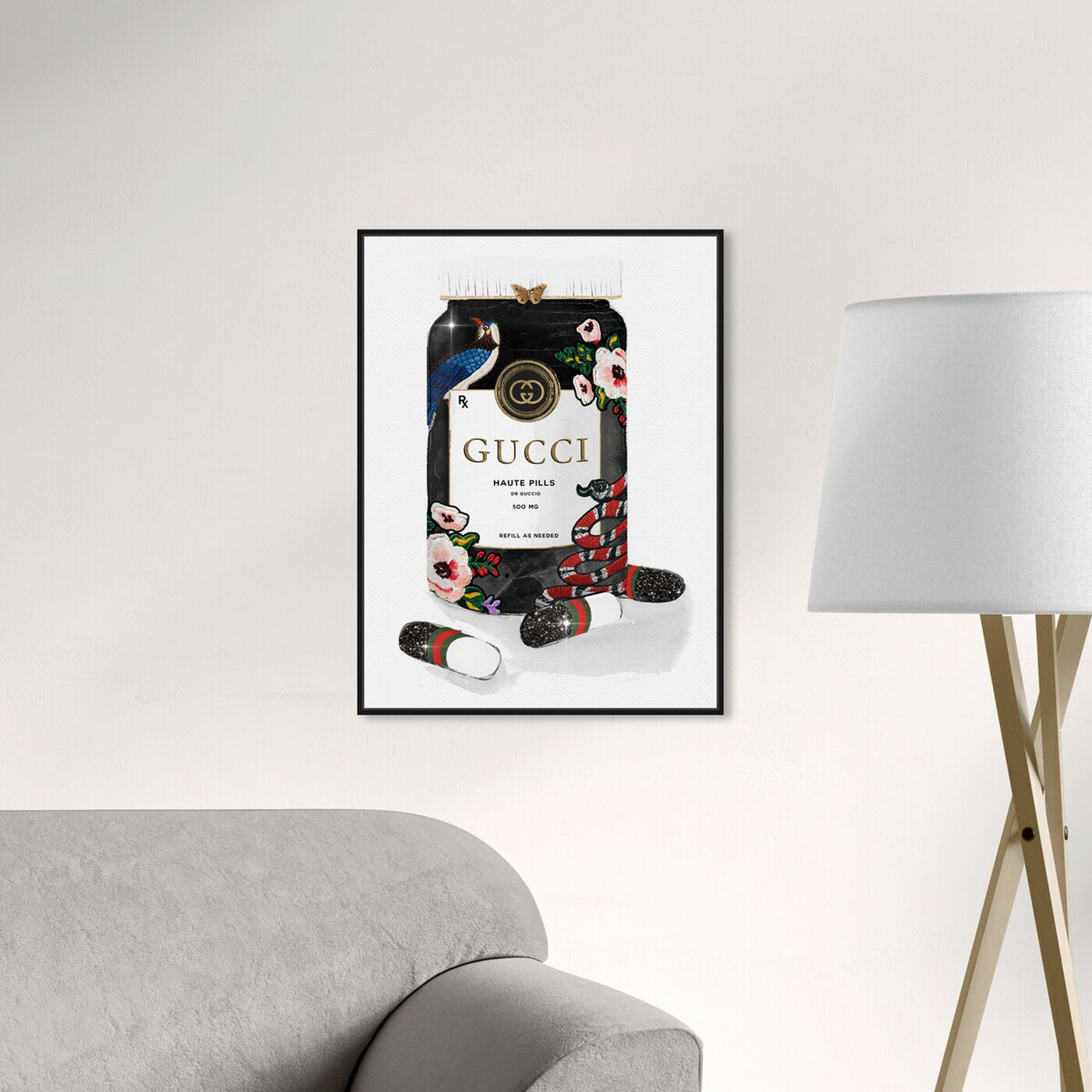 Hanging view of Glamorous Pills featuring fashion and glam and lifestyle art.