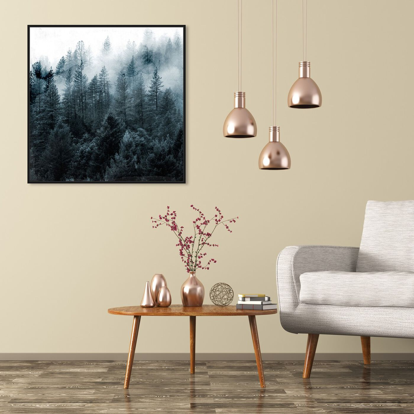 Hanging view of Over The Pine featuring nature and landscape and forest landscapes art.