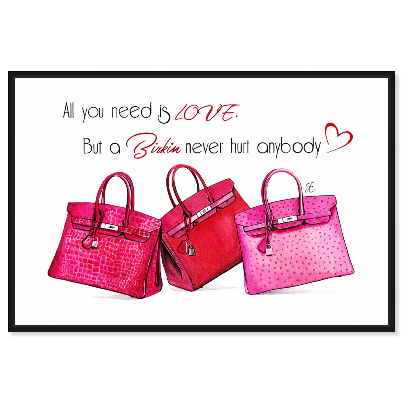 Front view of Doll Memories - Birkin Pink featuring fashion and glam and handbags art.