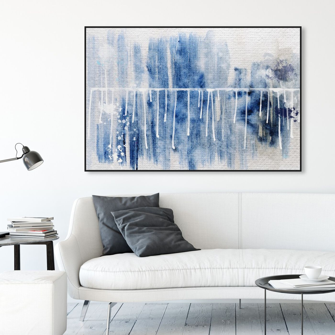 Hanging view of Path to You featuring abstract and watercolor art.