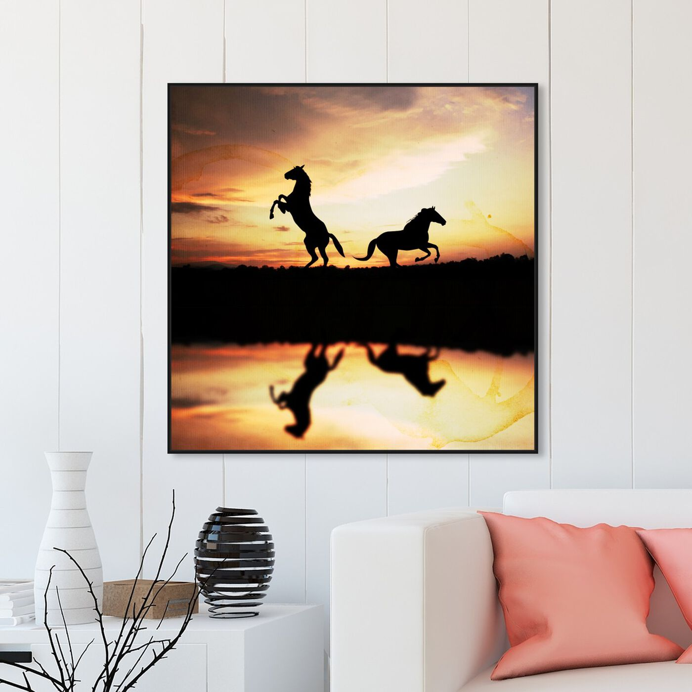 Hanging view of Sunset West featuring animals and farm animals art.