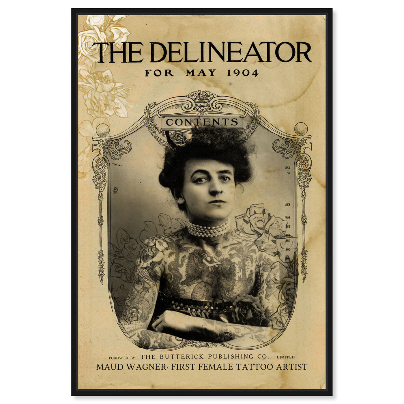 Front view of The Delineator featuring people and portraits and portraits art.