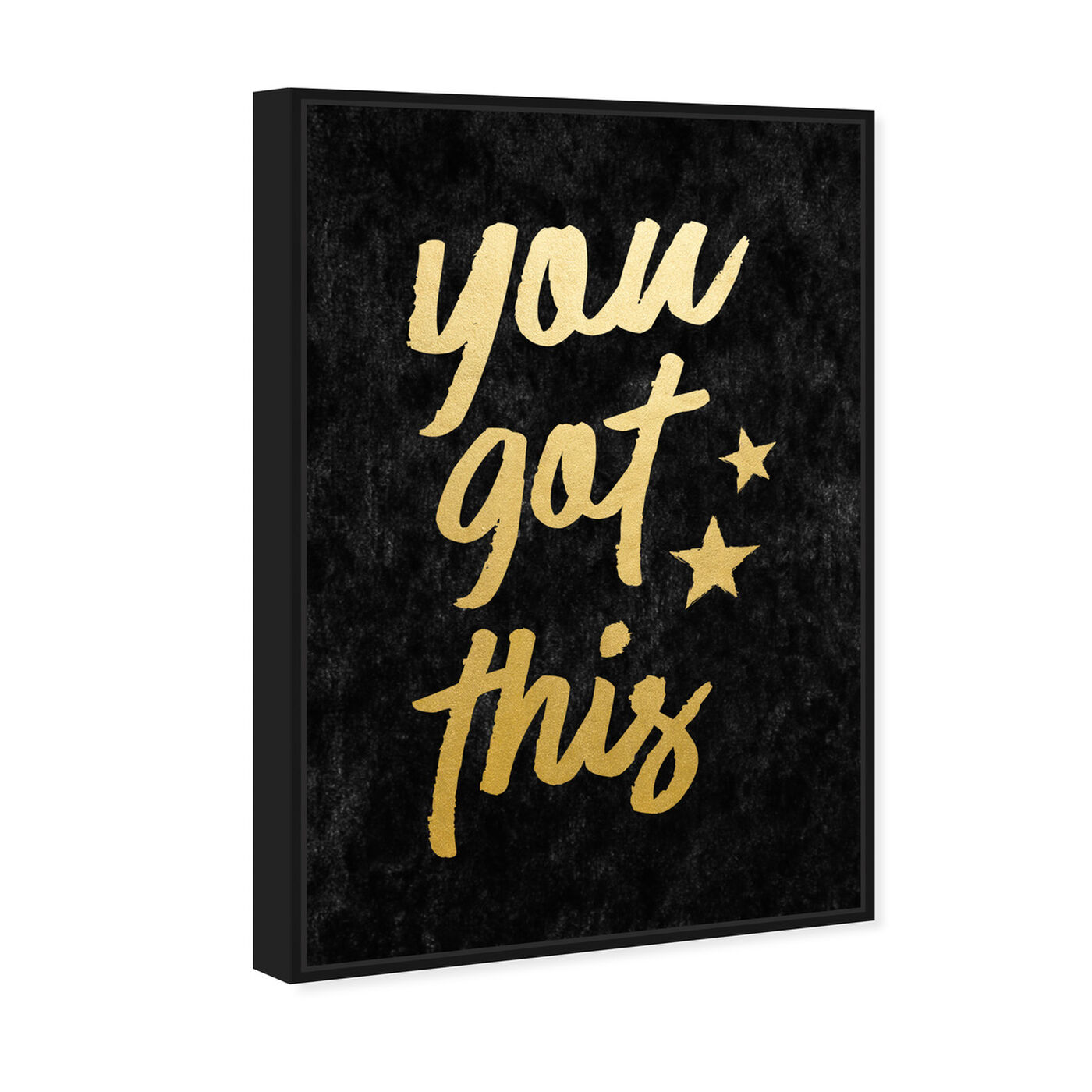 Angled view of You Got This Velvet featuring typography and quotes and motivational quotes and sayings art.