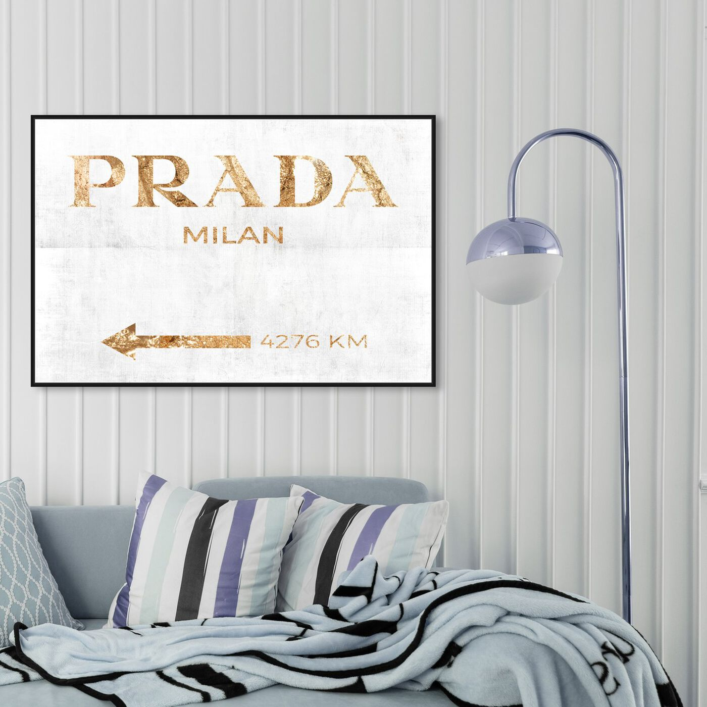 Hanging view of Milan Pure Inverse featuring fashion and glam and road signs art.