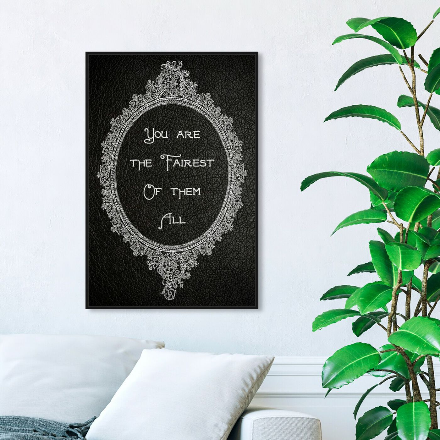 Hanging view of The Most Beautiful II featuring typography and quotes and family quotes and sayings art.