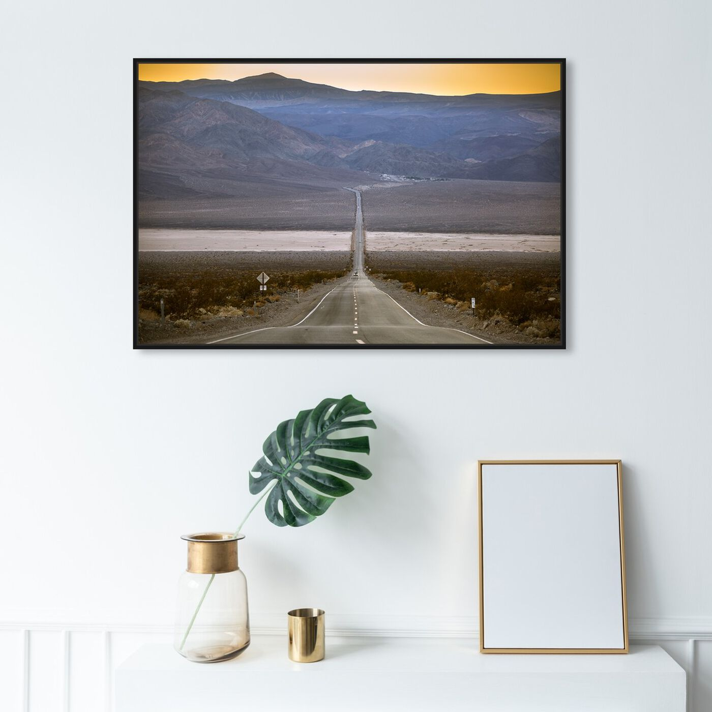 Hanging view of Curro Cardenal - American Road IV featuring nature and landscape and mountains art.