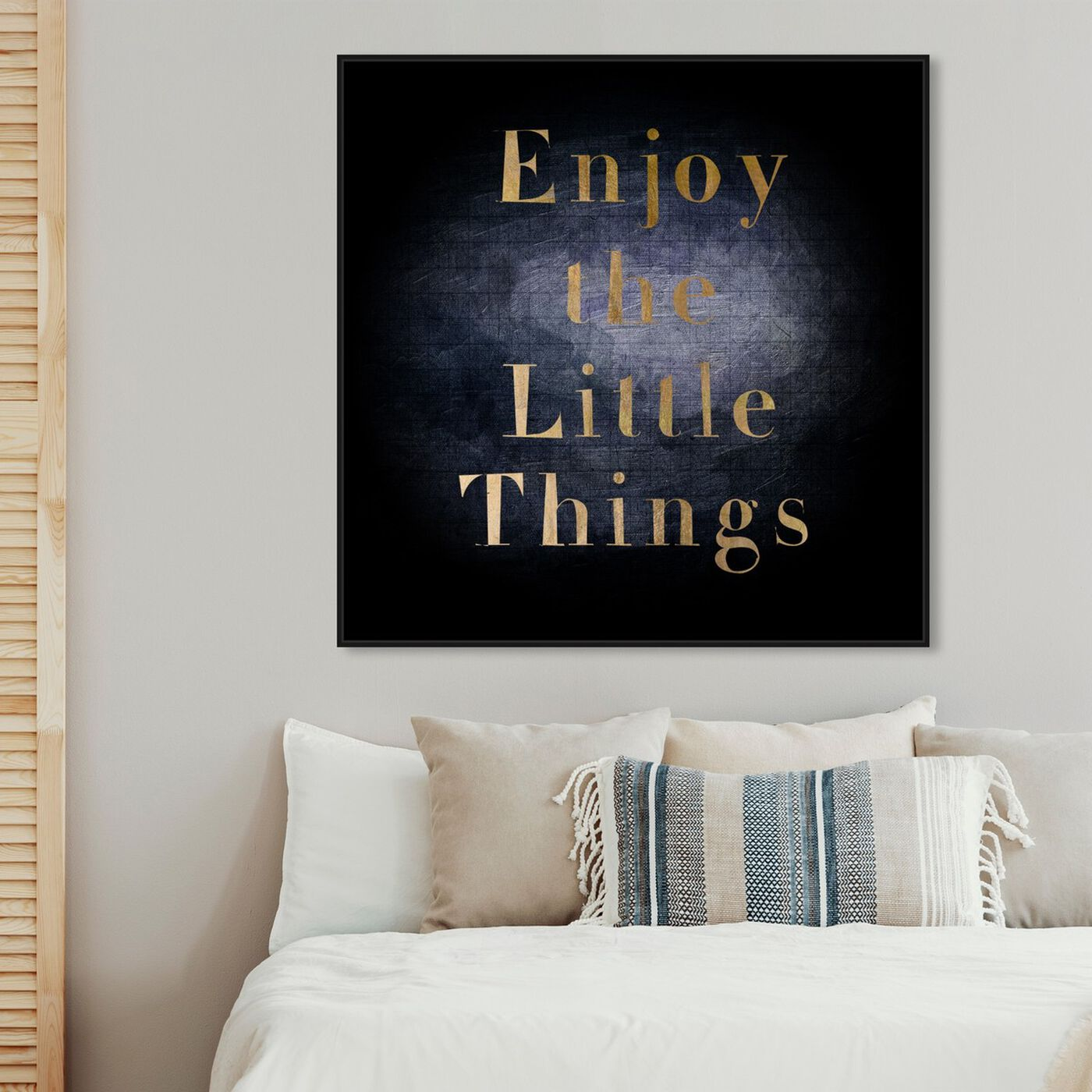 Hanging view of All Small Things featuring typography and quotes and inspirational quotes and sayings art.