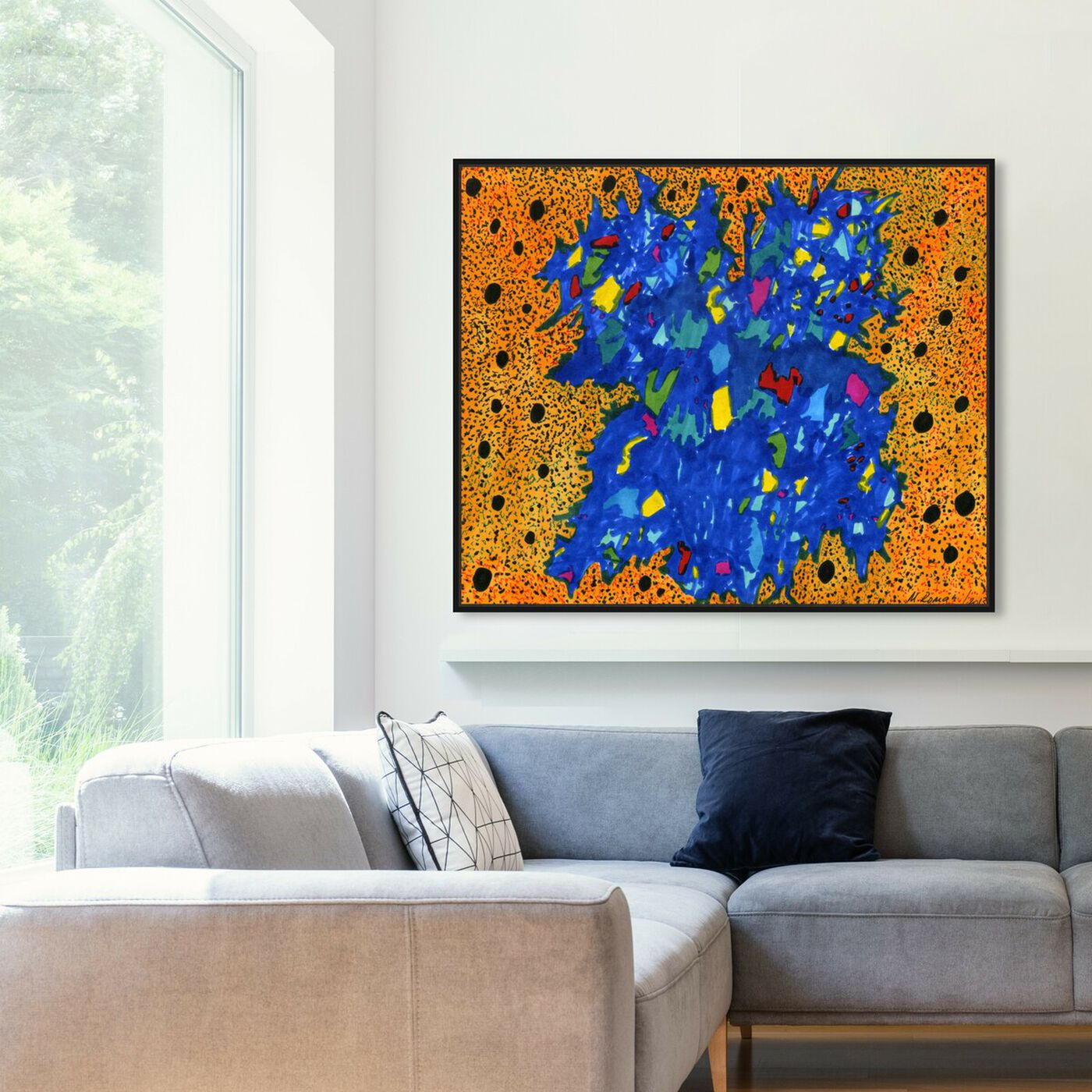 Hanging view of Static featuring abstract and paint art.