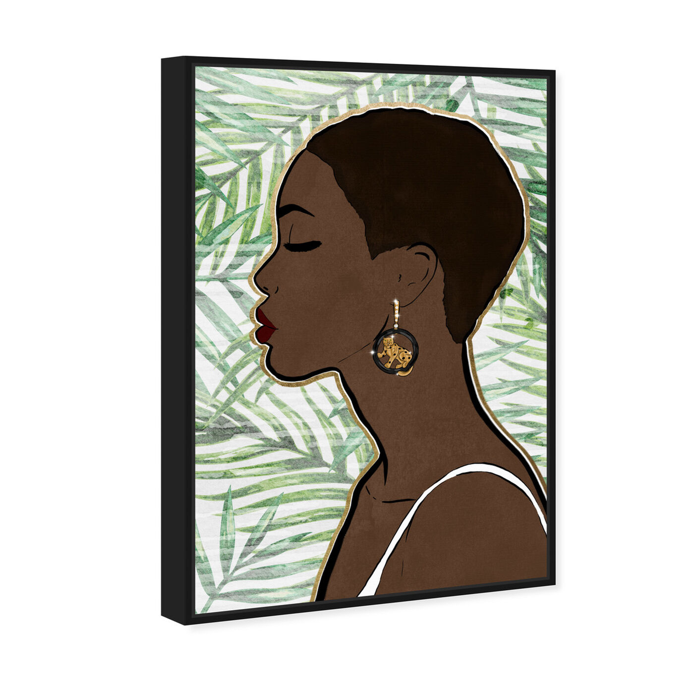 Angled view of Tropical Queen featuring people and portraits and portraits art.