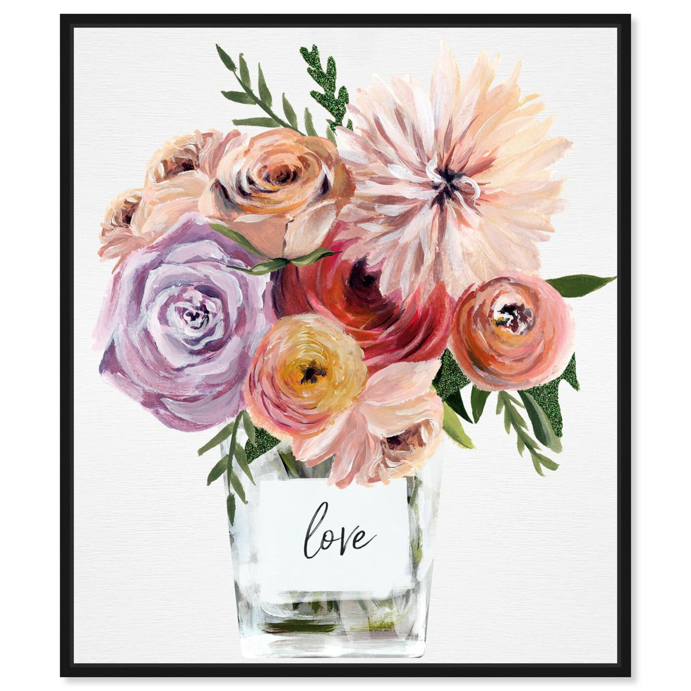 Front view of Love Me Some Florals featuring floral and botanical and florals art.