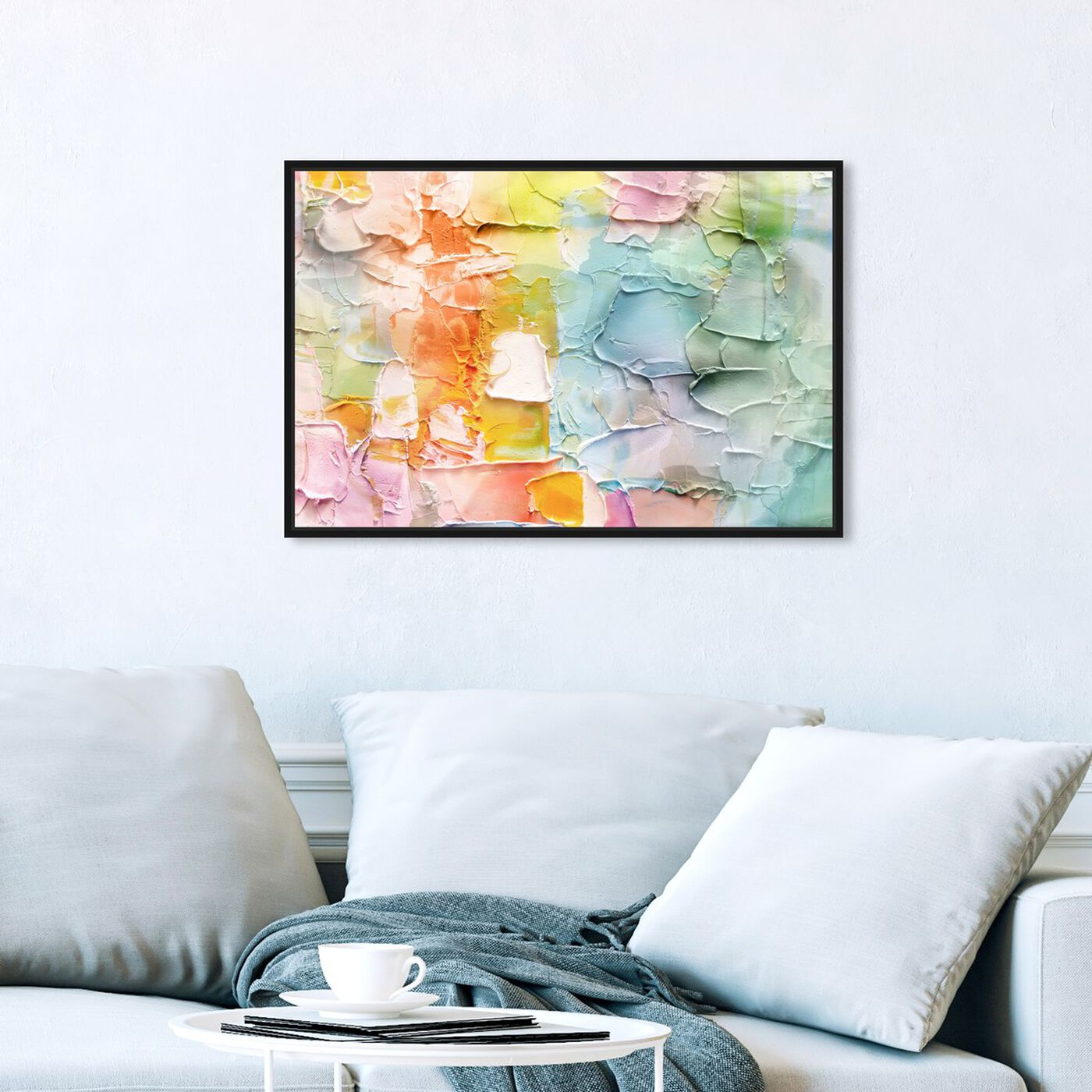 Hanging view of Morning Singing featuring abstract and textures art.