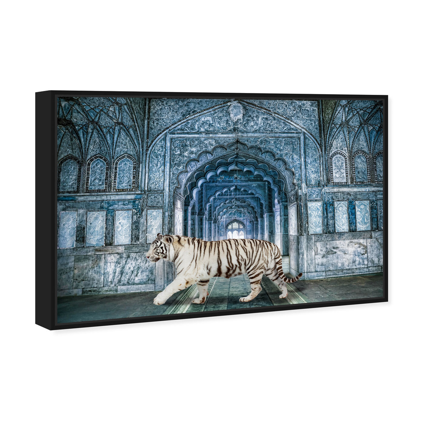 Angled view of Wild Nature Blues featuring animals and felines art.