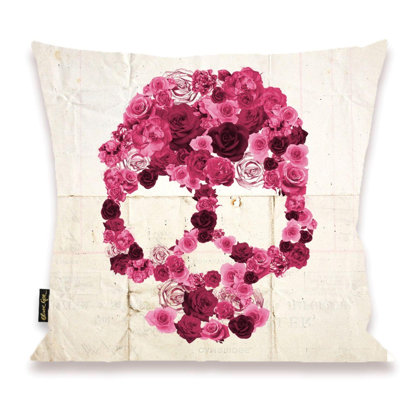 Strawberry Skull Pillow