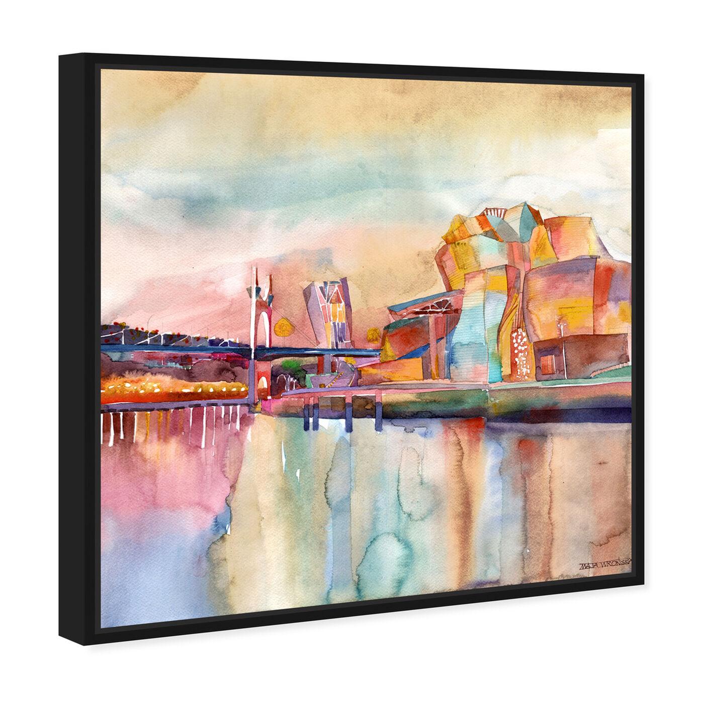 Angled view of Maja Wronska - Bilbao featuring world and countries and european countries art.