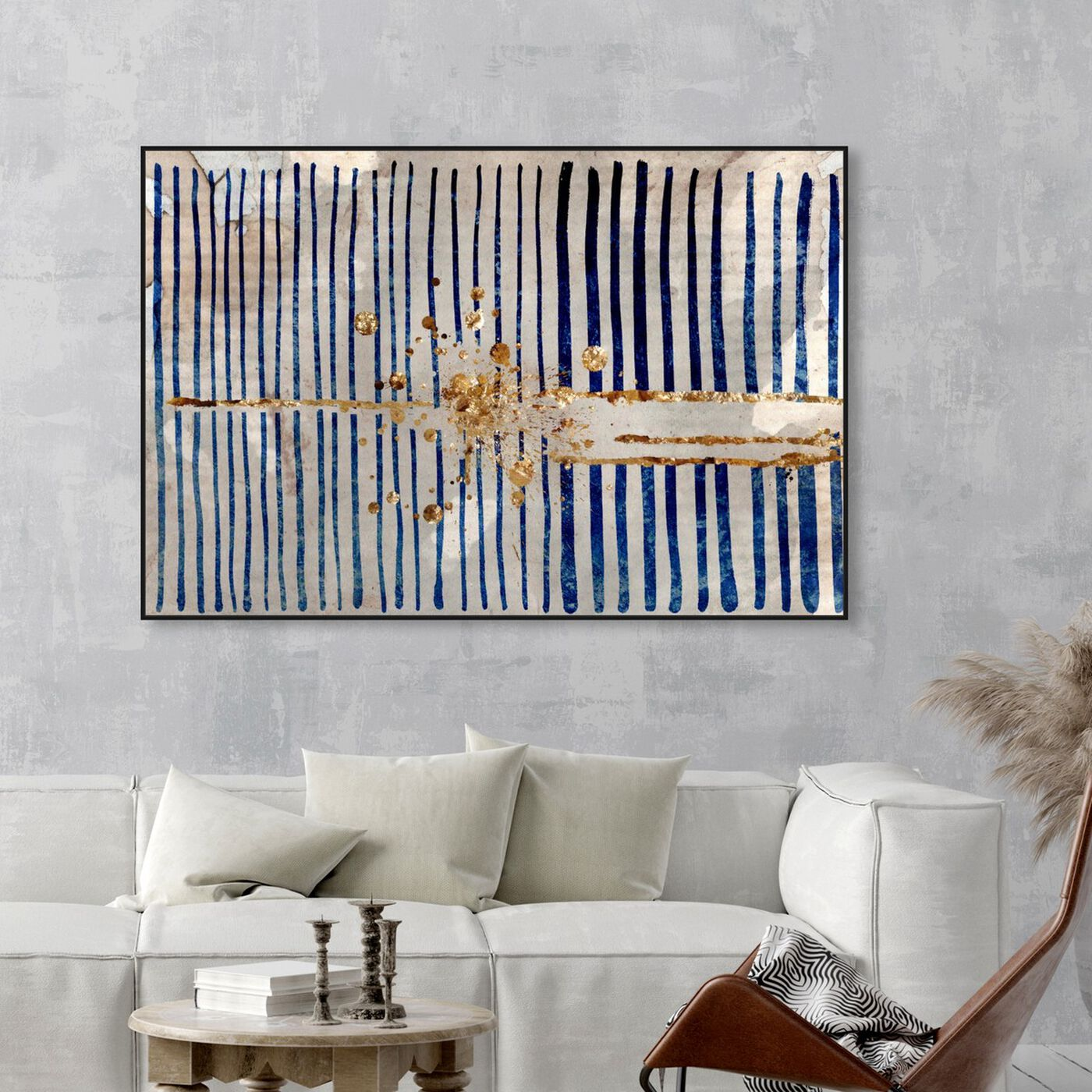 Hanging view of Love Force Field featuring abstract and patterns art.