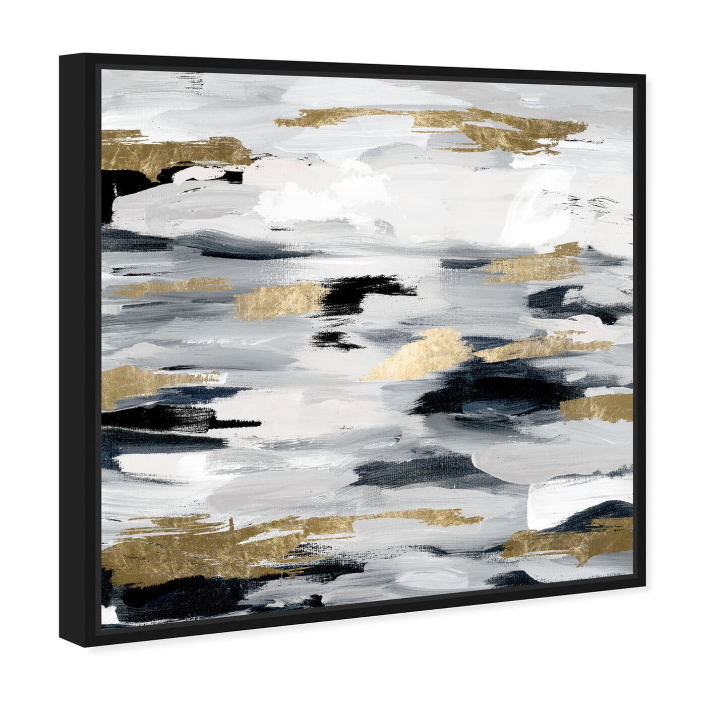 Angled view of Smoke On The Water Night featuring abstract and paint art.